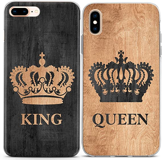 BFF King Queen Couple Cover For IPhone X 8 5 XR XS Max 6 6S 7 Plus