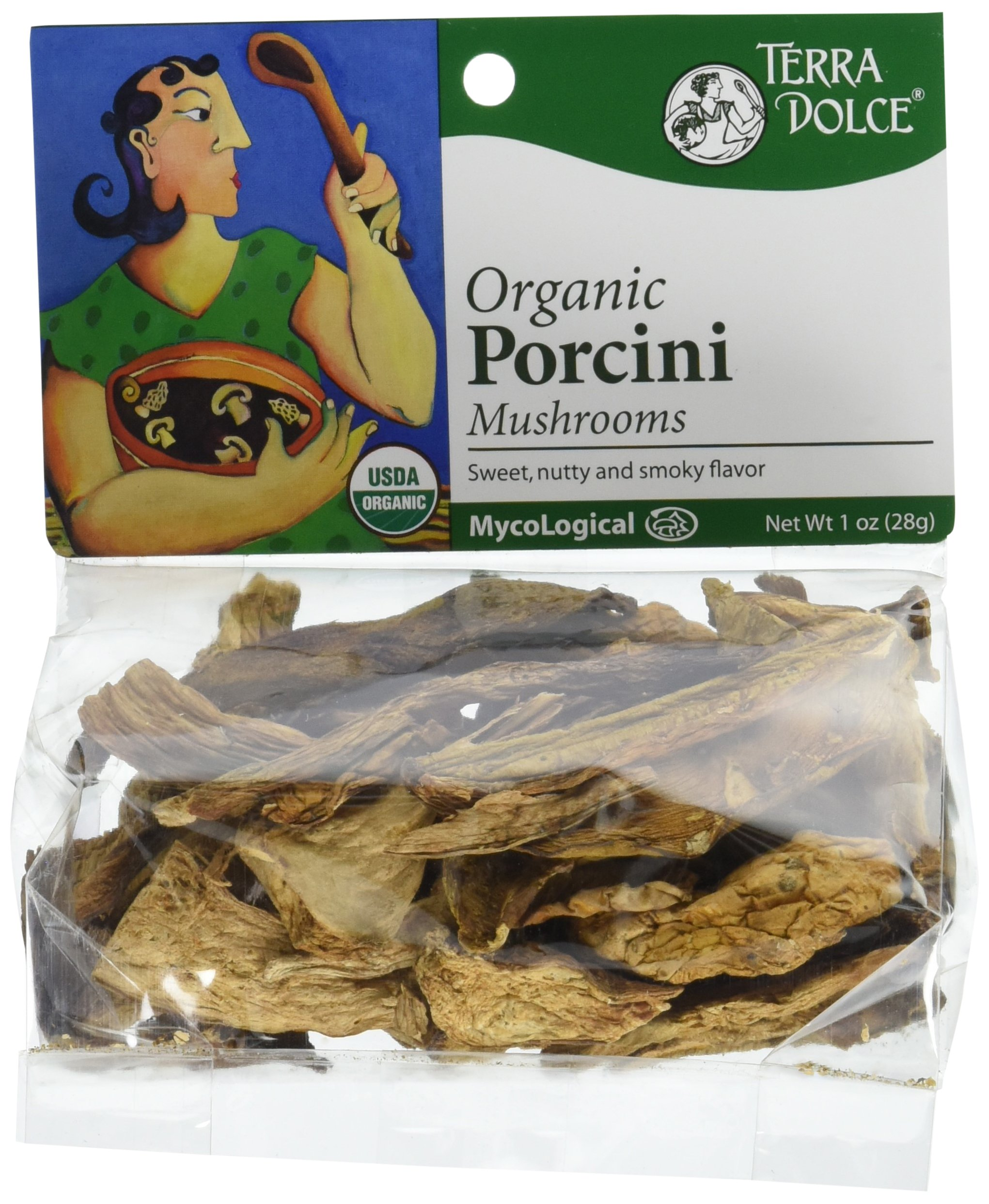 Terra Dolce Organic Porcini Mushrooms, 1 Ounce by Terra Dolce
