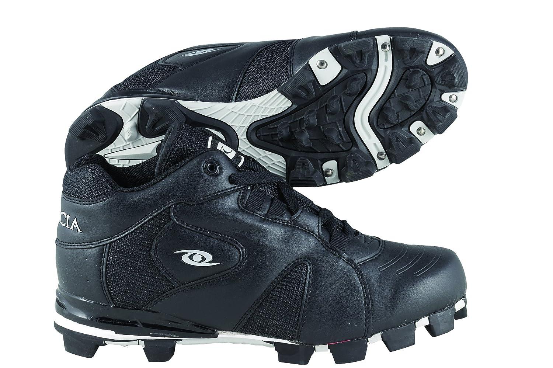 Acacia Fielder's Choice-Mid Baseball/Softball Shoes B00GYT5088 8|Black/White