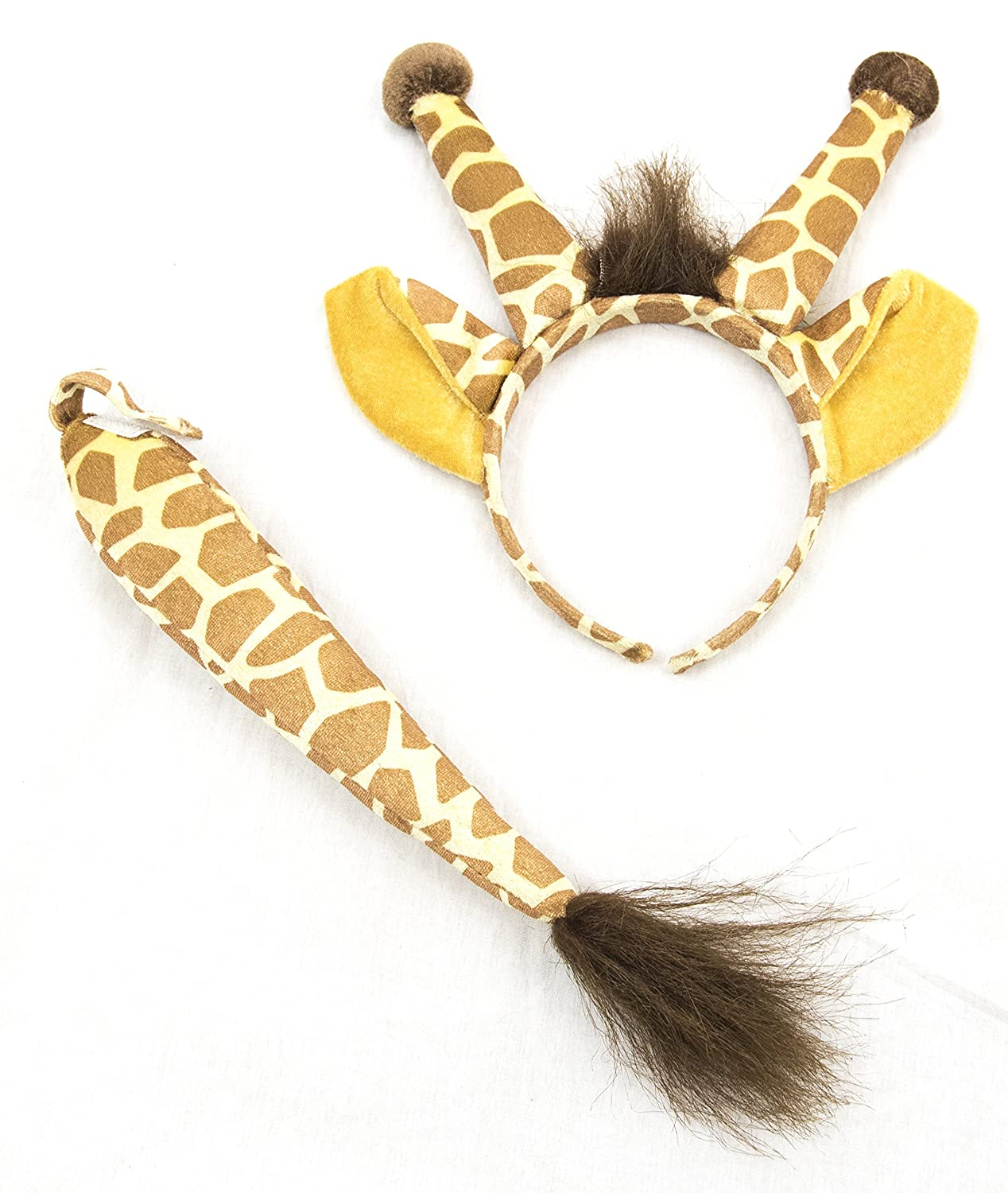 Squirrel Products Giraffe Headband Ears and Tail Set Costume Accessories One Size