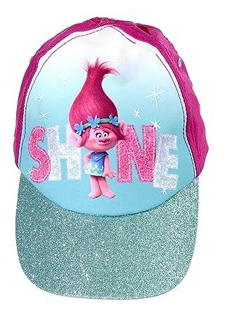 728de6585af Official Licensed Girls Trolls Poppy Shine Summer Baseball Cap Hat Age 4-8  Years Glitter