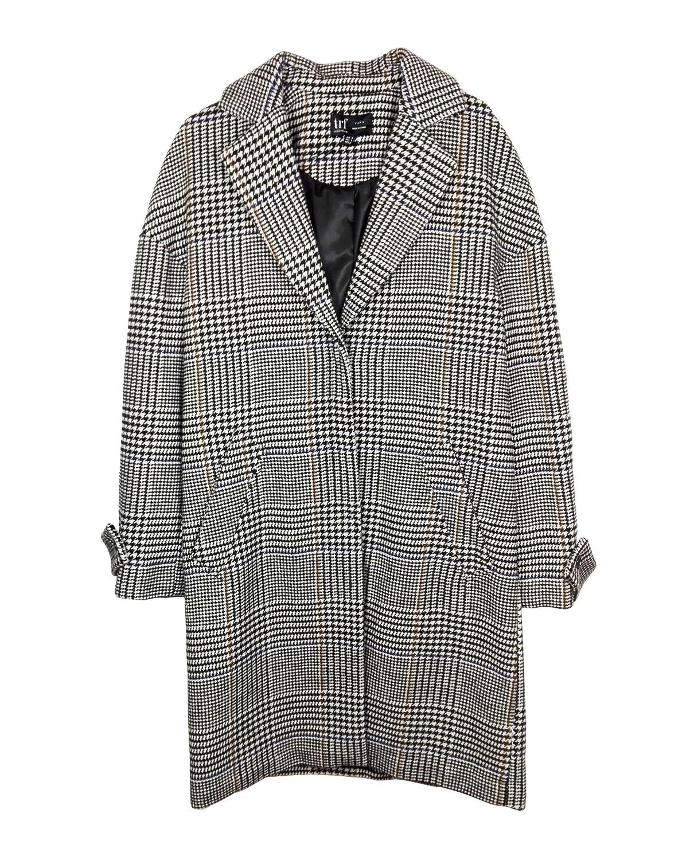 a6ac41dd Zara Women Checked Coat 1255/008 - Black - X-Small: Amazon.co.uk: Clothing