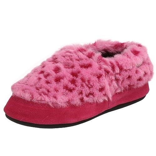 Acorn Tex - Zapatillas para Mujer, Rosado (Pink Ocelot), X-Large