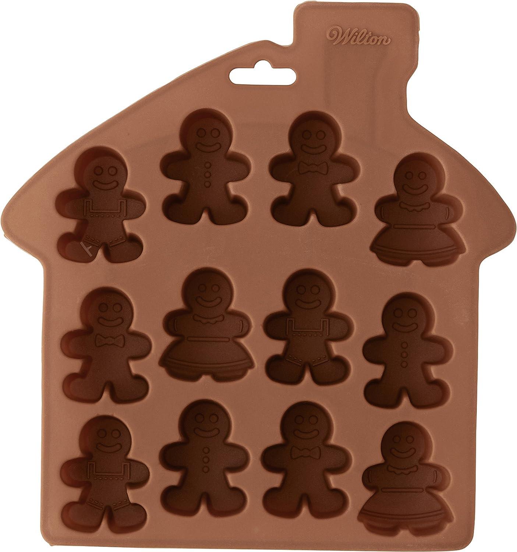 Christmas Treat Mold Wilton Mini Gingerbread Boy Silicone Cake Mould