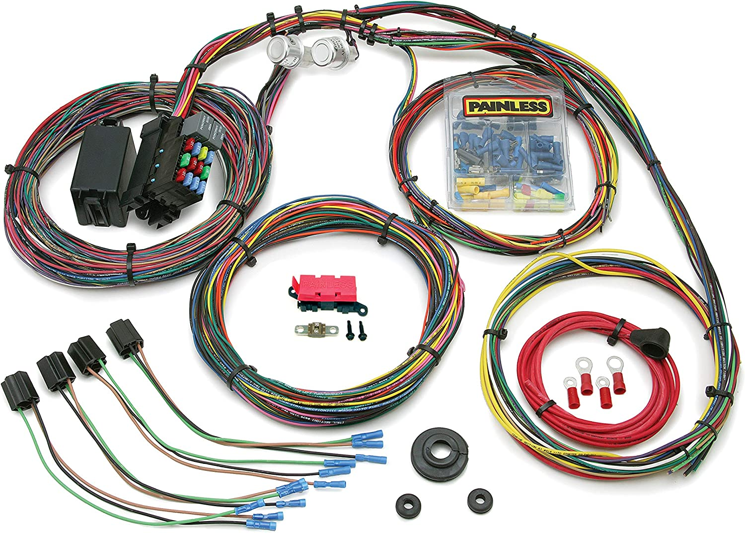 painless wiring harness and chassis amazon com painless 10127 customizable mopar color coded chassis  painless 10127 customizable mopar