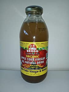 Bragg Organic ACV/Honey Apple Cider Vinegar Drink, 16 Ounce -- 12 per case.