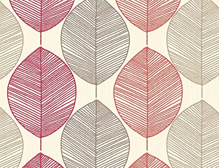 Arthouse Opera Retro Leaf Heavy Weight Wallpaper Wallcovering 408205