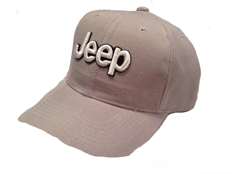 Amazon.com  Jeep Baseball Cap Hat Gray. New!  Everything Else a8b18bcfcf81