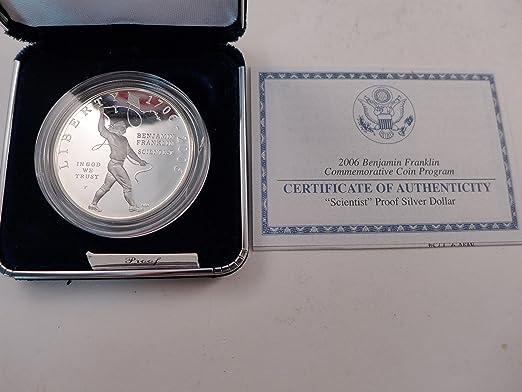 2006 BU Benjamin Franklin Scientist Silver Dollar US Mint Commemorative $1 Coin