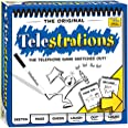 USAOPOLY Telestrations Original 8 Player, Family Board Game, A Fun Family Game for Kids and Adults, Family Game Night Just Go