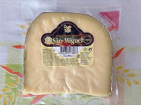 Queso duro Leche de vaca Queijo da Ilha Velho São Miguel 9 meses Curado 300 Gramos