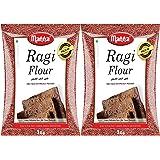 Manna Plain Ragi Flour (1kg) - Pack of 2