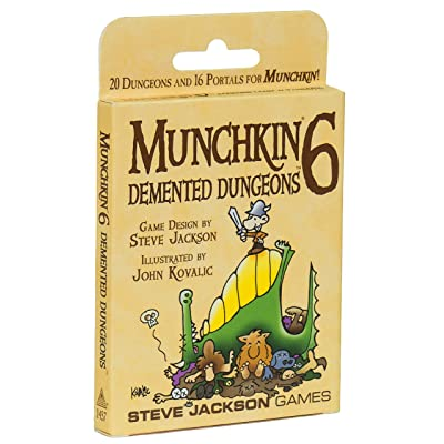 Munchkin 6 Demented Dungeons Expansion Deck Pack; 20 Double-Sized Cards, 16 Standard-Sized Cards: Toys & Games