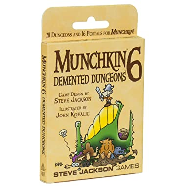 Munchkin 6 Demented Dungeons Expansion Deck Pack; 20 Double-Sized Cards, 16 Standard-Sized Cards
