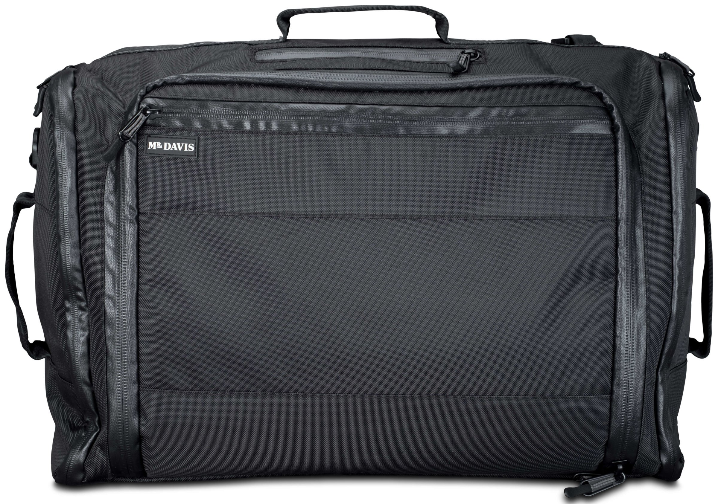Mr. Davis Continuum One-Bag Travel Carry On Bag with Backpack Mode