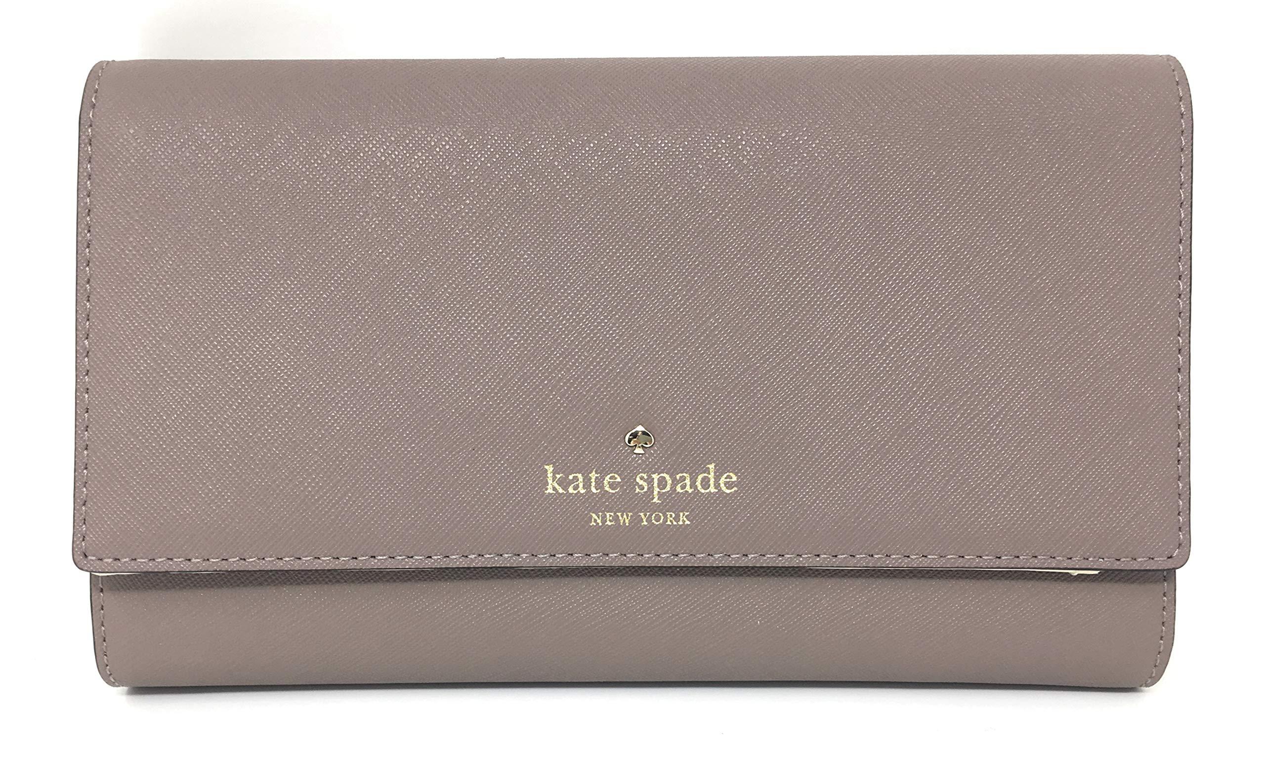 Kate Spade New York Mikas Pond Phoenix Large Leather Travel Wallet (Porcini)