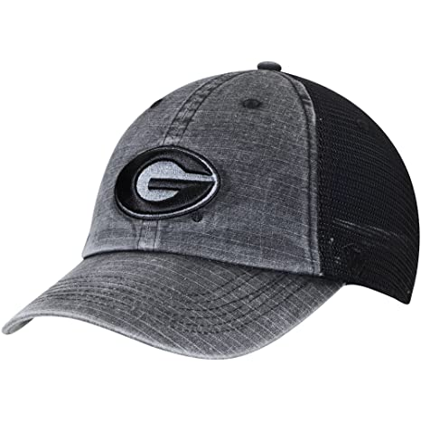 best service 6f318 a9a05 Image Unavailable. Image not available for. Color  Georgia Bulldogs Top of  the World Ploom Trucker Adjustable Hat Black