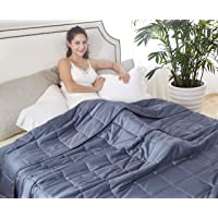 HomeSmart Products King Size Weighted Blanket 15lbs 88X104 - Ultra Soft 400 Thread Count - Washable - True King Size Comforter