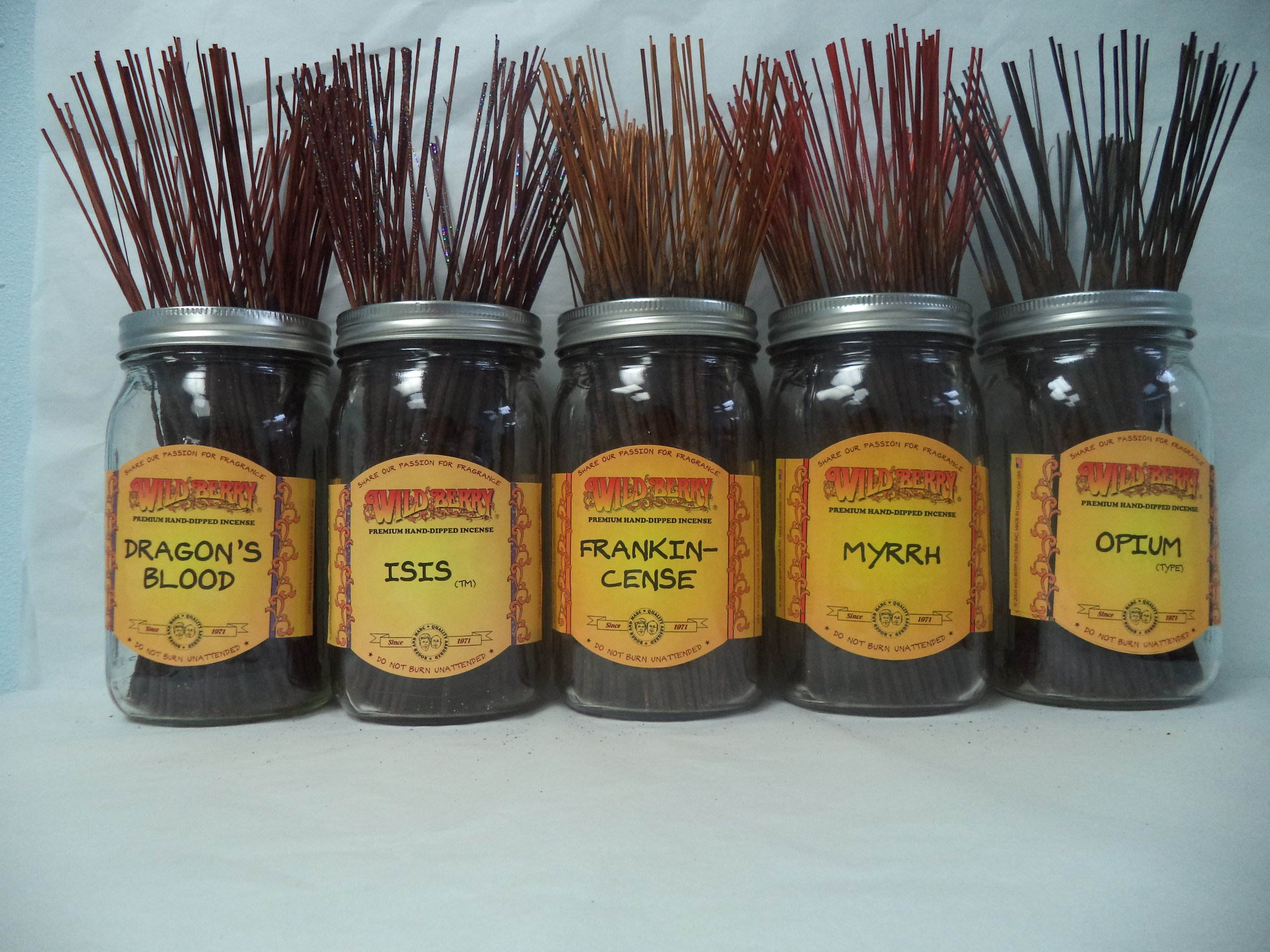 WILDBERRY Incense Sticks Spicy Scents Set #1: 20 Sticks Each of 5 Scents, Total 100 Sticks!