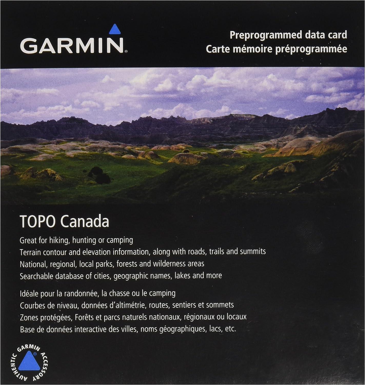 Garmin Topo Canada - West - Mapas senderistas para GPS, cobertura geográfica Oeste de Canadá: Amazon.es: Electrónica