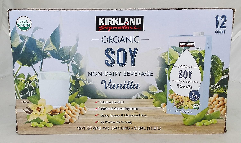 Kirkland Signature aroma de vainilla de la leche de soja org?nico de la USDA (leche de soja) 946mlx12 piezas: Amazon.es: Alimentación y bebidas