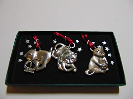 Seagull Pewter Christmas Ornaments, PLAYFUL KITTENS, Set of 3 - Amazon.com: Seagull Pewter Christmas Ornaments, PLAYFUL KITTENS, Set