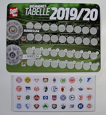 Deutsche Fussball Liga 1 Und 2 Bundesliga Magnettabelle Mit Vereinswappen Fur Saison 2019 2020