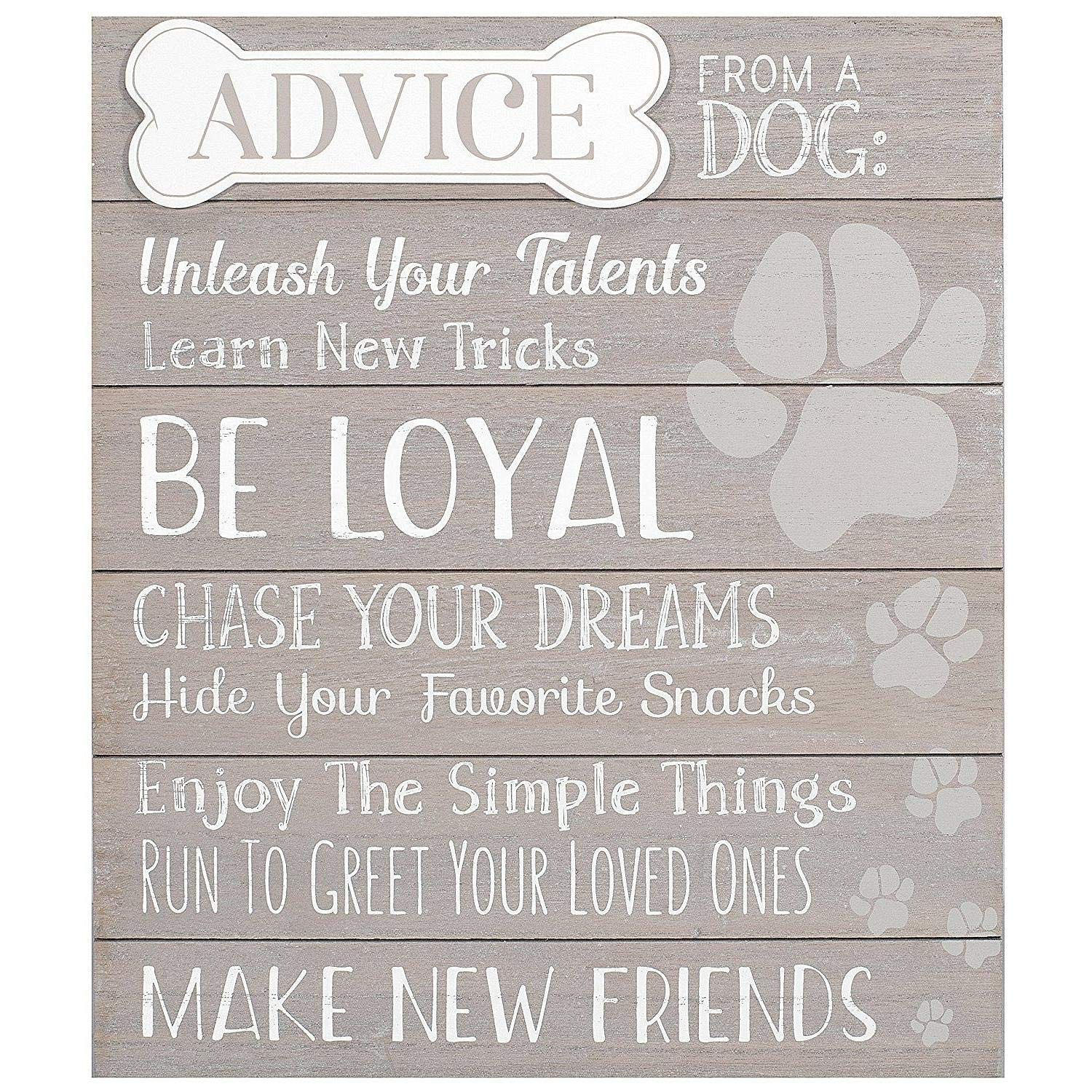 Malden International Designs 20078-01 at at Home Décor Advice from A Dog, 12x14, Gray