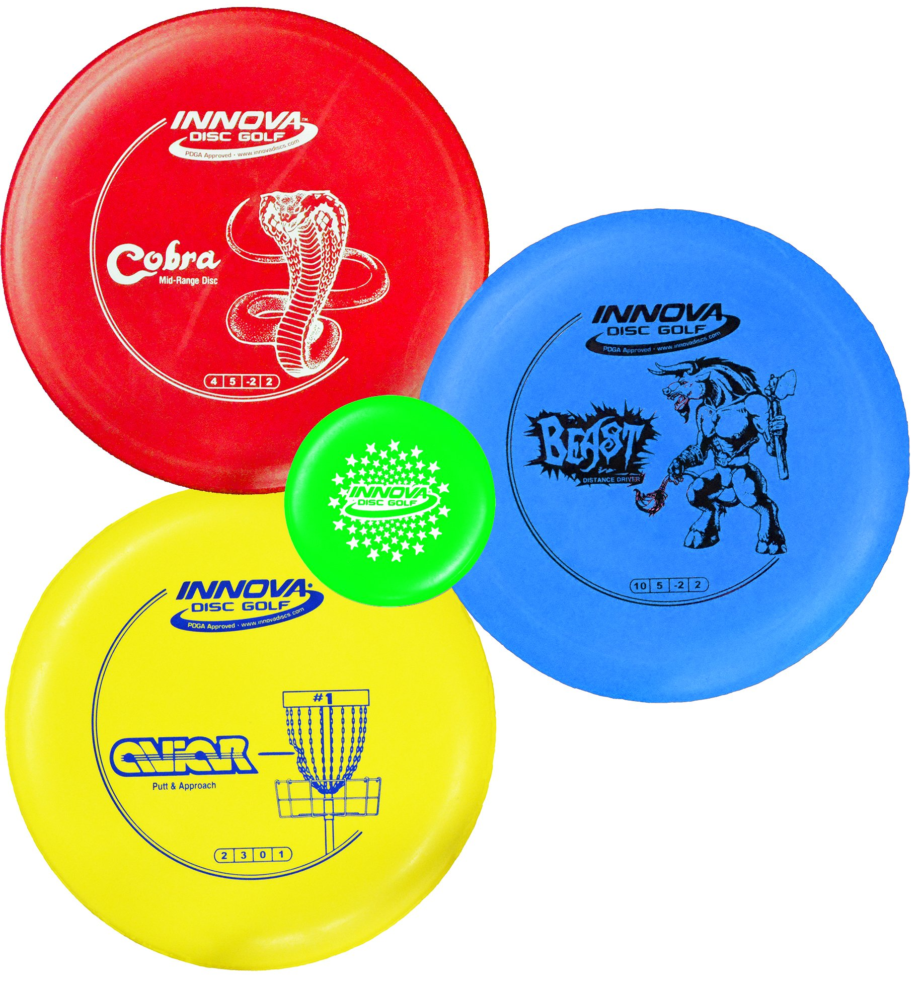 Innova Disc Golf Starter Set – Colors May Vary 160-180g – DX Putter, Mid-Range, Driver by Innova (Image #1)