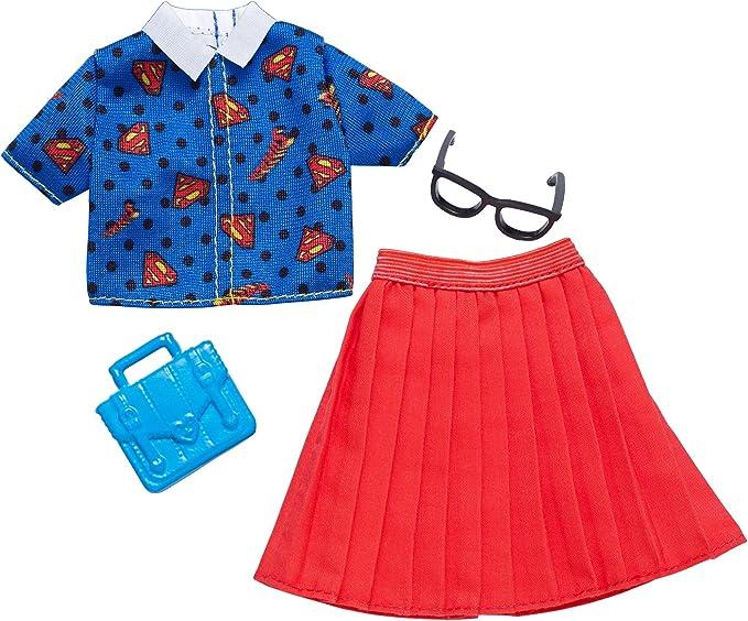 SET//3 BARBIE SUPERHEROES DOLL CLOTHES TOP Shirt Dress WONDER WOMAN SUPERGIRL NEW