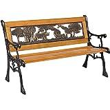Best Choice Products Outdoor Safari Animals Kids Aluminum & Wood Park Bench Home & Garden