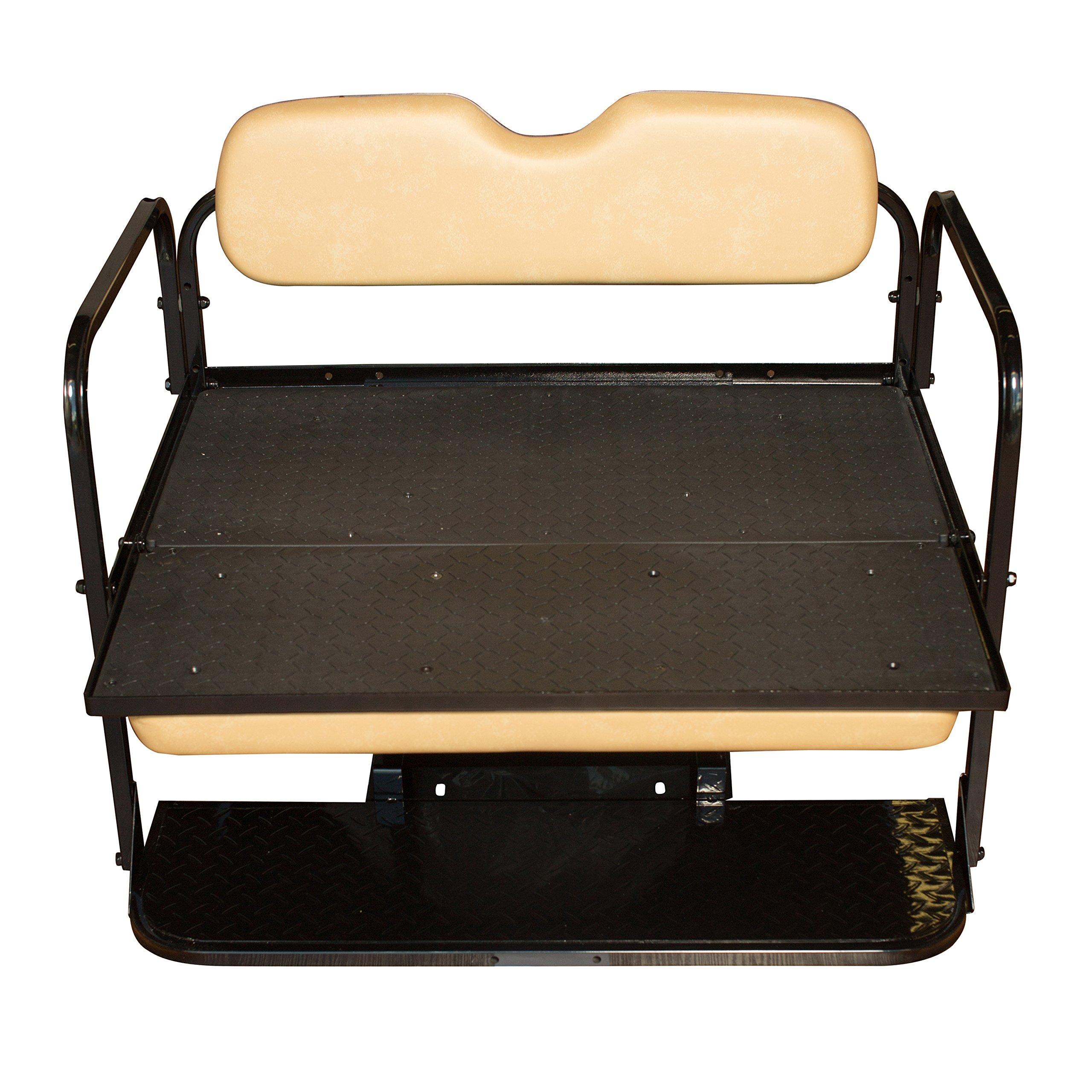 Golf Cart Rear Seat EZ-GO TXT Tan Cushions by Performance Plus Carts (Image #3)
