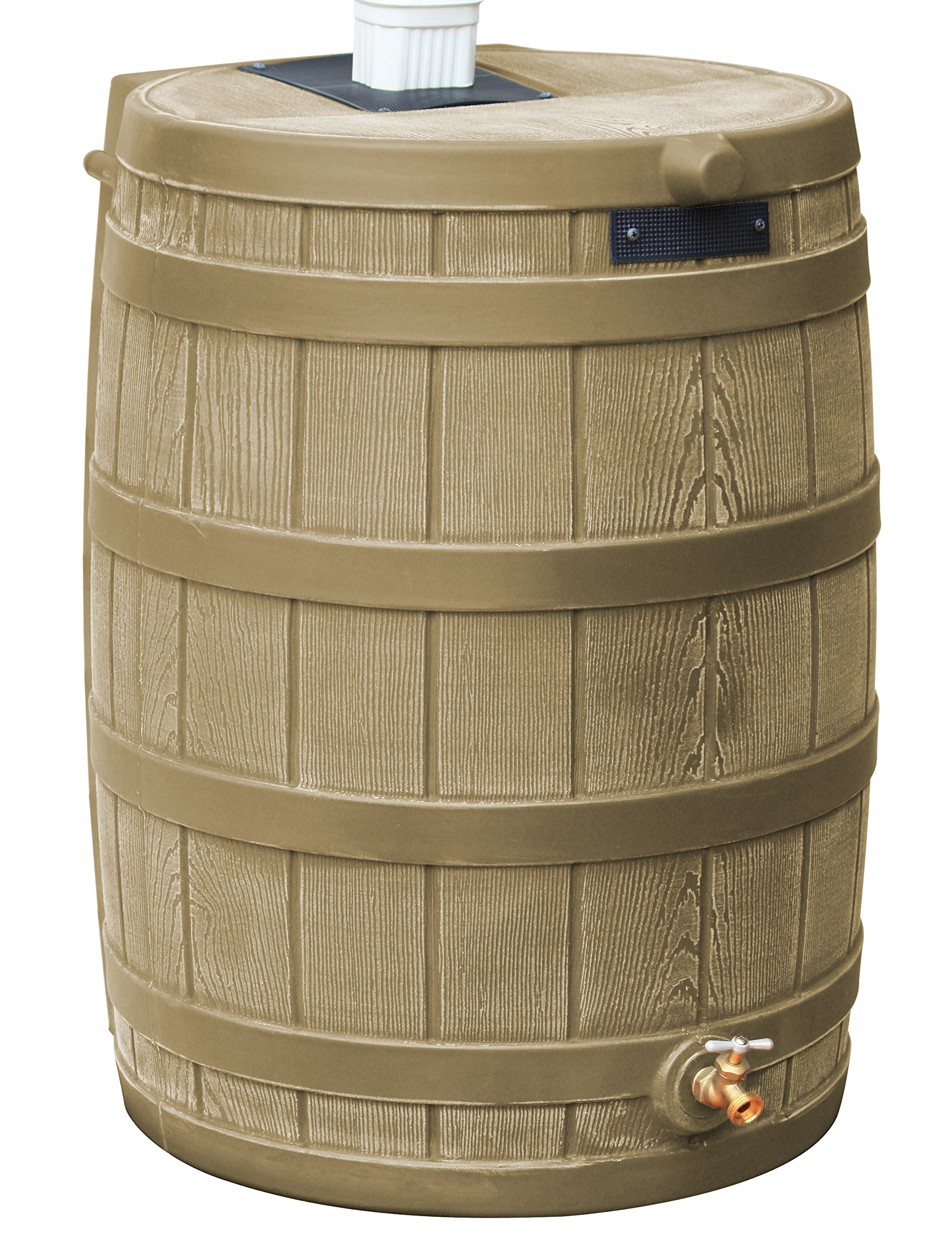 Good Ideas RW50-KHA Rain Wizard Rain Barrel 50-Gallon, Khaki by Good Ideas