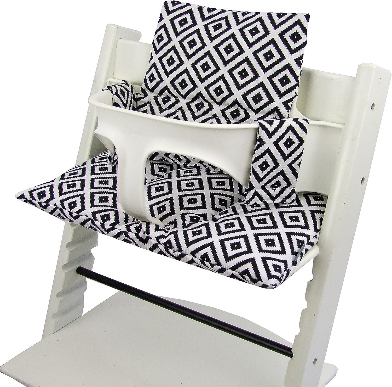 BambiniWelt Lot de 2 coussins de rechange pour chaise haute Stokke Tripp Trapp 20 couleurs