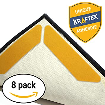Amazon rug gripper tape pads anti slip non skid carpet rug gripper tape pads anti slip non skid carpet corners easily stick rugs ppazfo