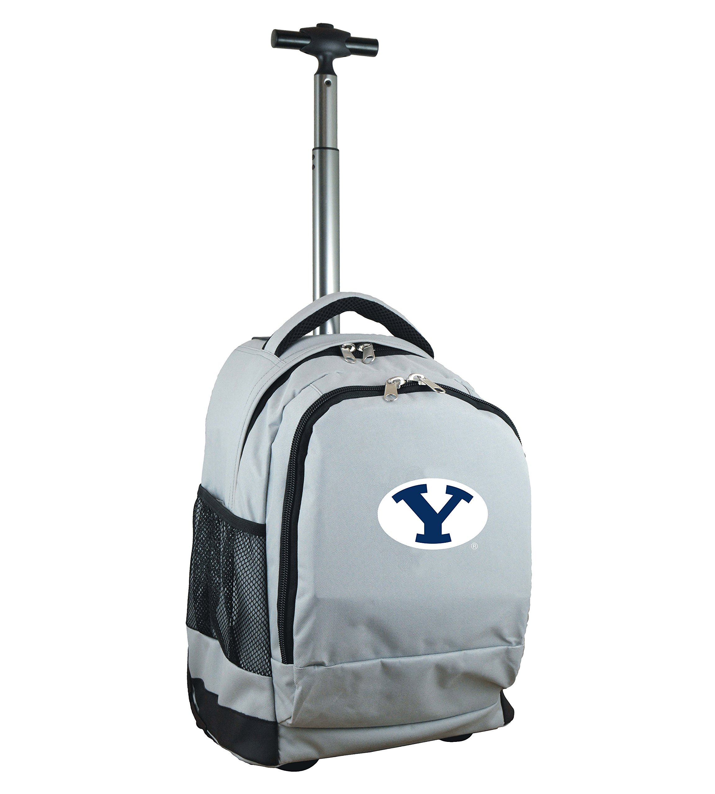 Denco NCAA BYU Cougars Expedition Wheeled Backpack, 19-inches, Grey