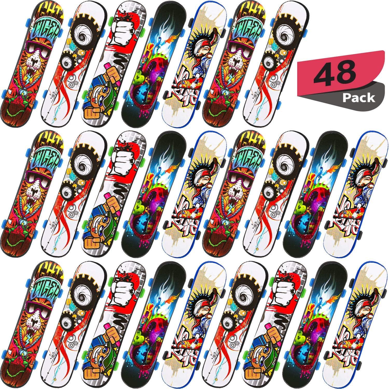 Random Stil Gejoy 48 St/ücke Mini Griffbretter Finger Skateboards Kreative Fingerspitzen Bewegung Gastgeschenke Sporttraining Requisiten