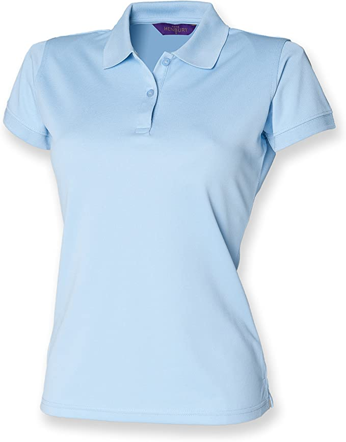 Henbury - Polo - para Mujer Azul Azul Claro: Amazon.es: Ropa y ...