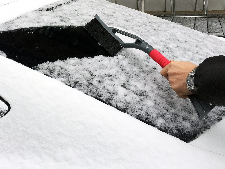 Glart Rasqueta de hielo profesional con cepillo para nieve