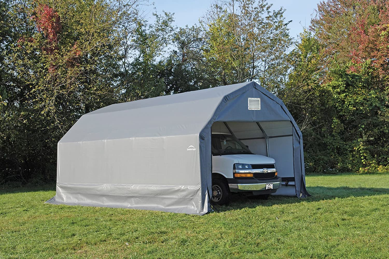 product to roundtop hover image portable sandstone zoom shelterlogic over garage garages shop tools autoshelter