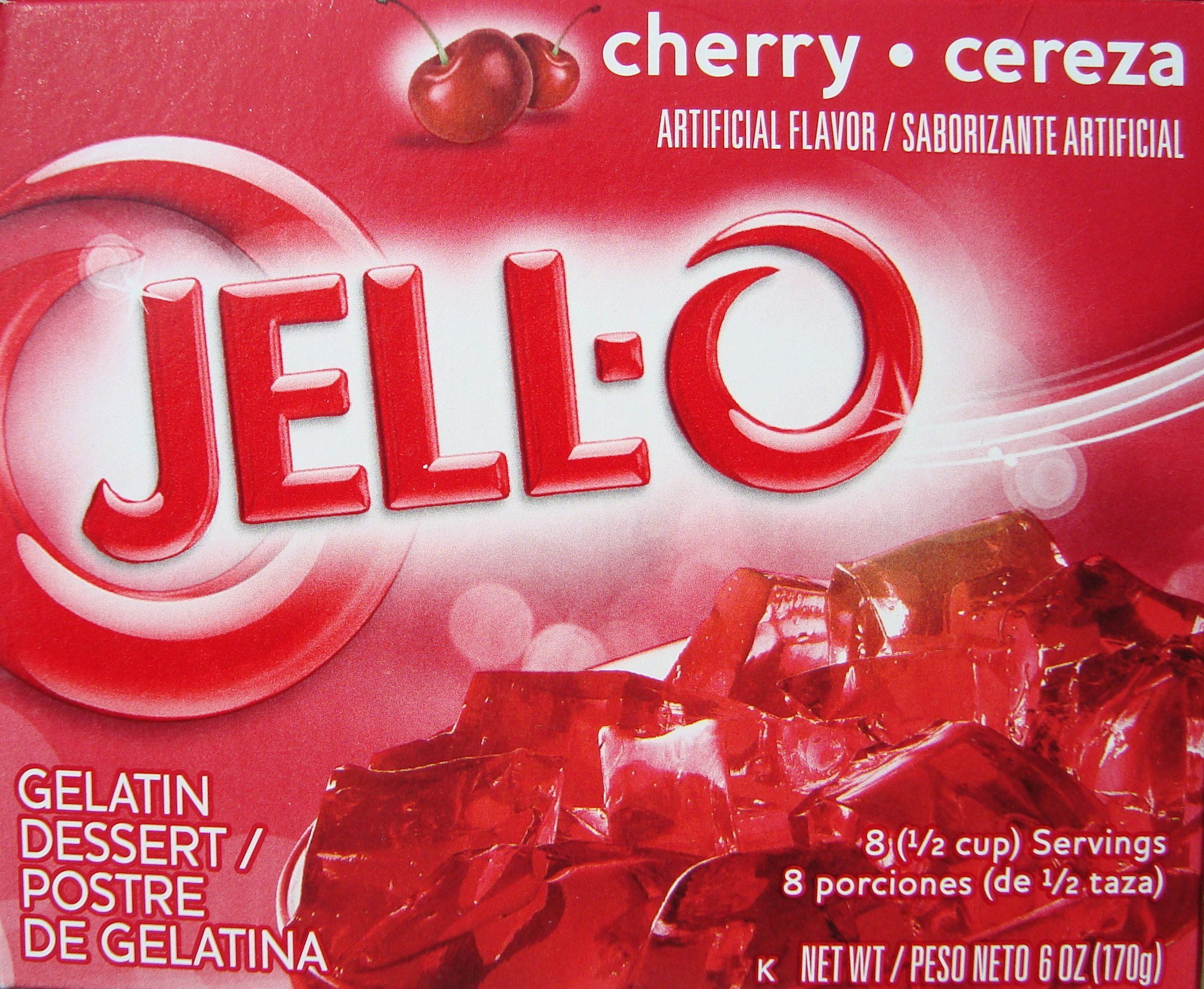 Jell-O Cherry Flavor Instant Gelatin, 6.0 oz (4-Packs) by Jell-O