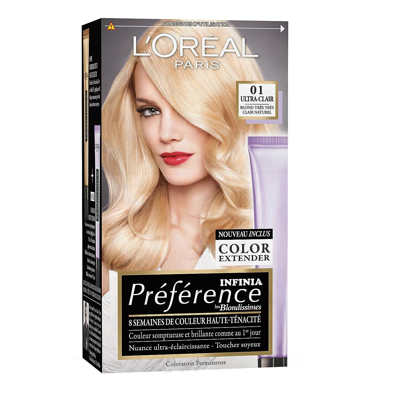 loral paris prfrence coloration permanente 01 blond trs trs clair naturel - Belle Color Blond Naturel