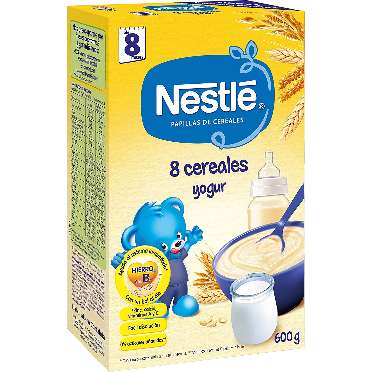 Amazon.com : Nestle Papilla 8 Cereales Con Yogur Y Bífidus : Grocery & Gourmet Food
