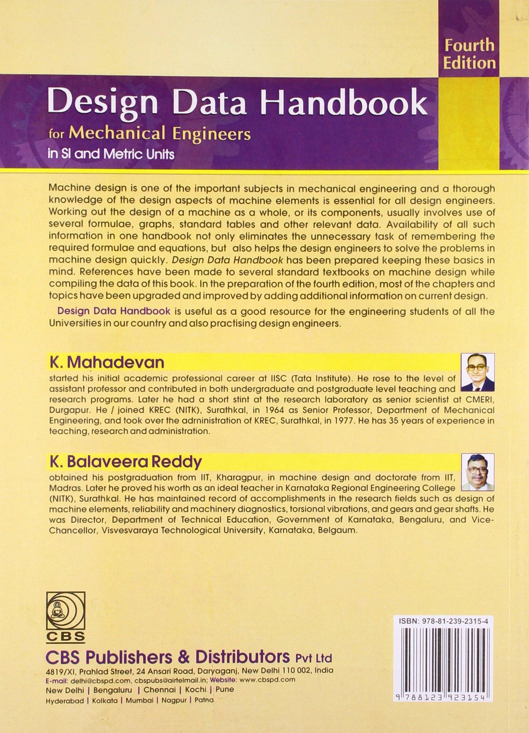 Mechanical Engineering Design Data Book Pdf