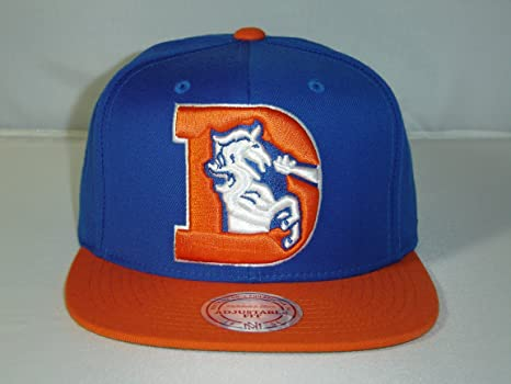 8e7fcd69ca7 Image Unavailable. Image not available for. Color  Mitchell and Ness NFL  Denver Broncos Logo Blue 2 Tone Retro Snapback Cap