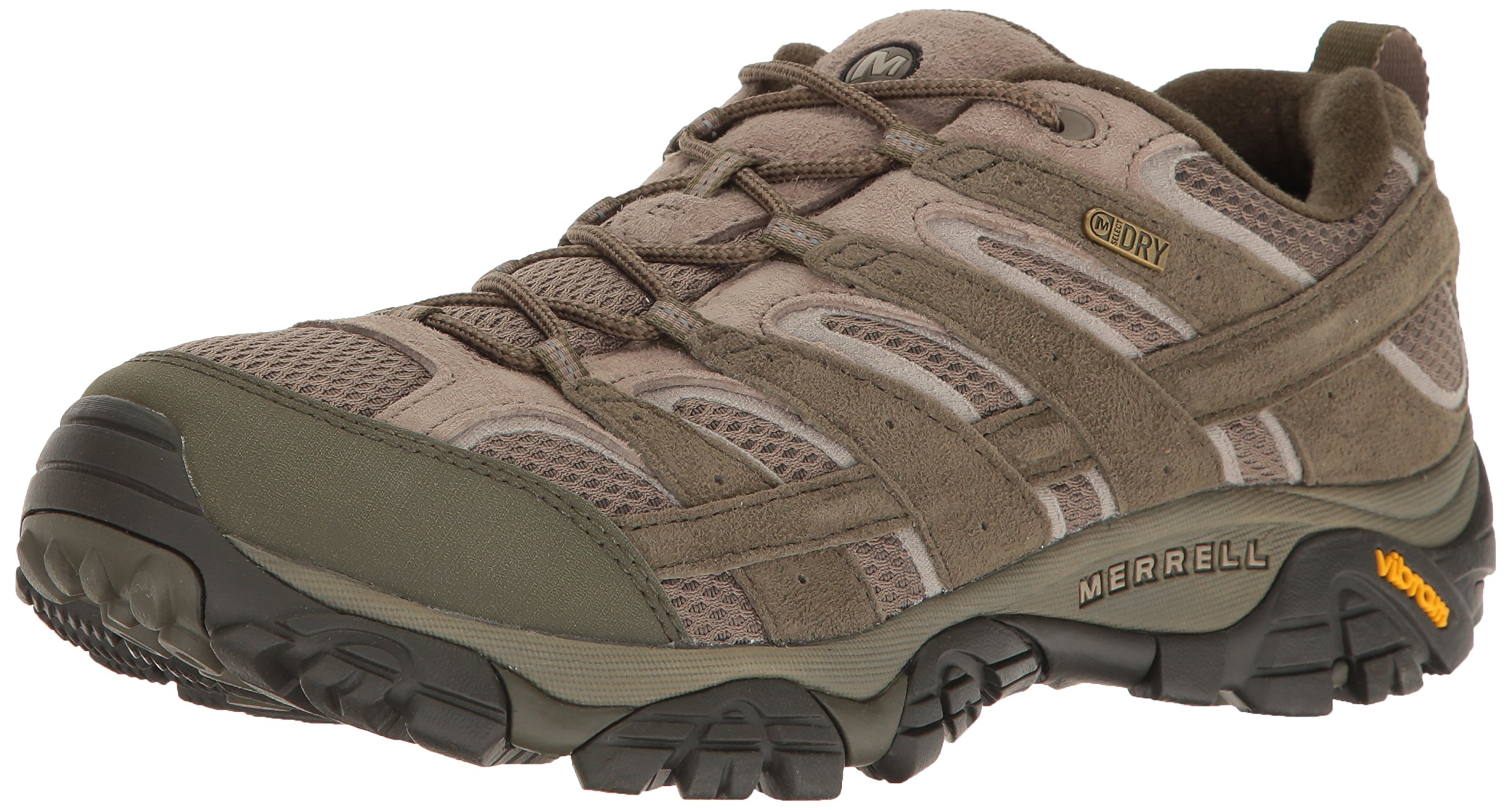 Merrell Men's Moab 2 Waterproof Hiking Shoe, Dusty Olive, 7.5 M US