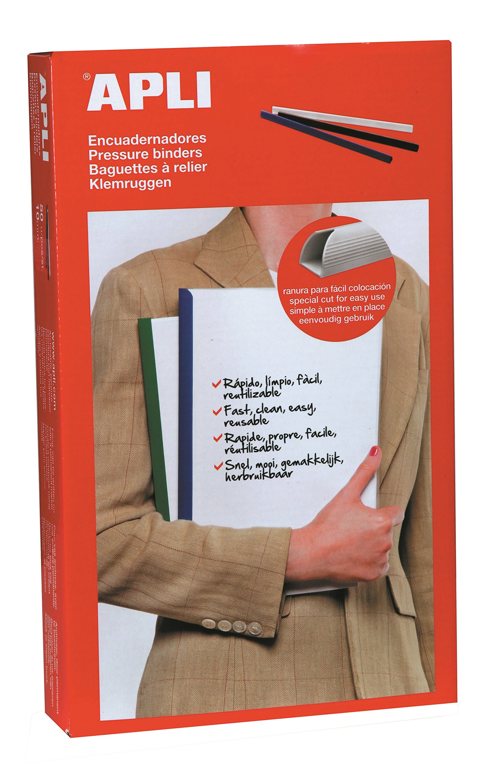 APLI 2205Box 50Book Binder A45mm Black