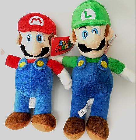 amazon com nintendo super mario luigi brothers soft plush doll set