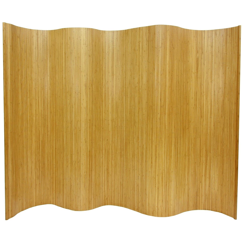 Amazon.com: Oriental Furniture 6 ft. Tall Bamboo Wave Screen ...
