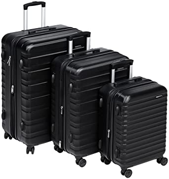 27be1bb84d63 Amazon.com  AmazonBasics Hardside Spinner Luggage - 3 Piece Set (20 ...